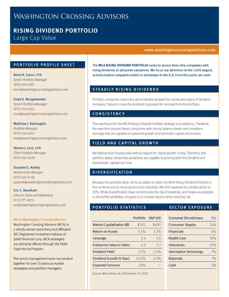 Rising Dividend Factsheet